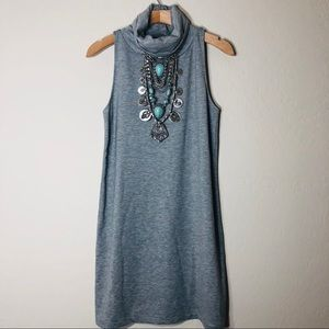 Leith mock neck sleeveless shift dress